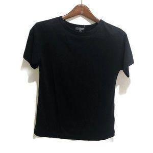 Topshop    Black New Casual Tee Shirt Top